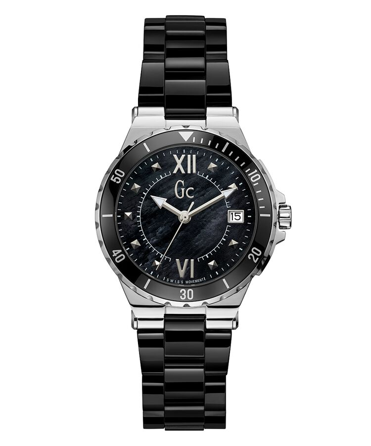 f4959a403 Gc Structura Lady Black Ceramic Stainless Steel Watch - Gc Watches